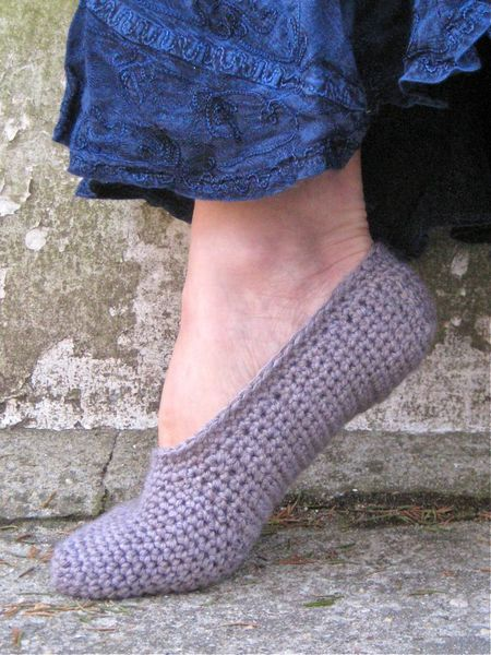 Simple Crochet Slippers Free Pattern