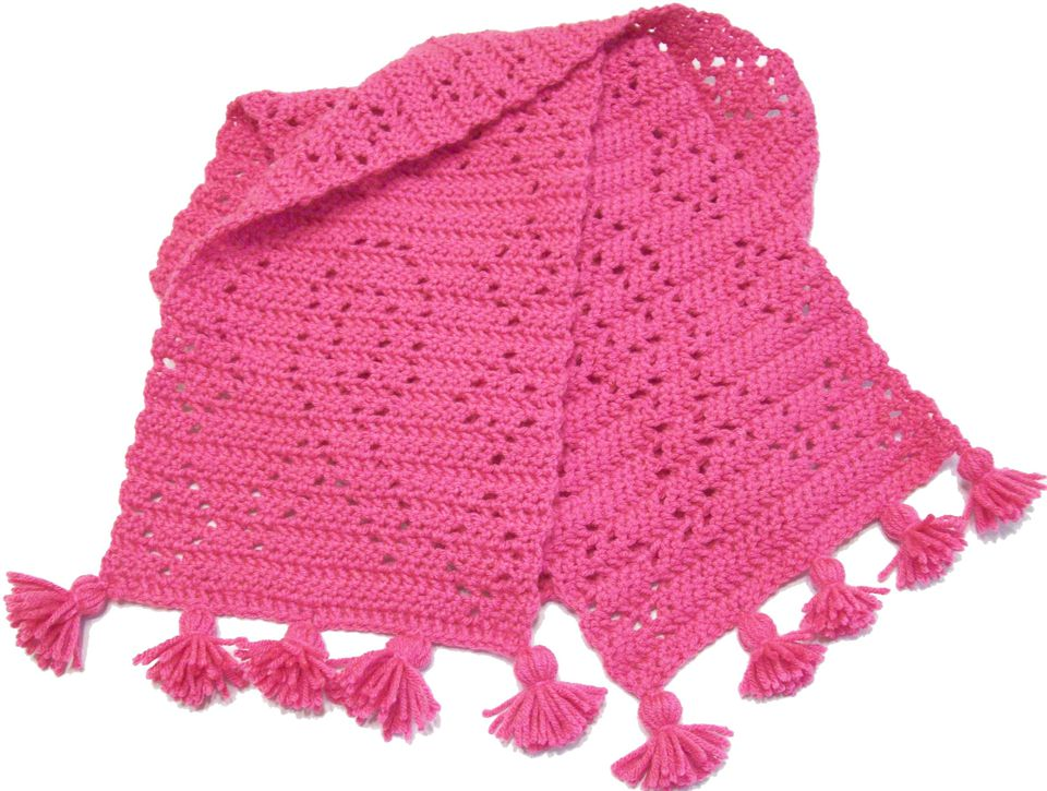 Breast Cancer Awareness Free Crochet Scarf Pattern