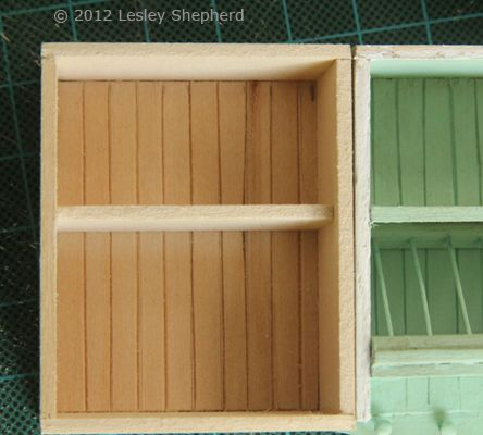 Add Opening Glass Front Cabinets To A Dollhouse Miniature Kitchen