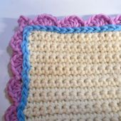 Half Double Crochet Shell Stitch Edging With Corner and Surface Crochet Slip Stitches