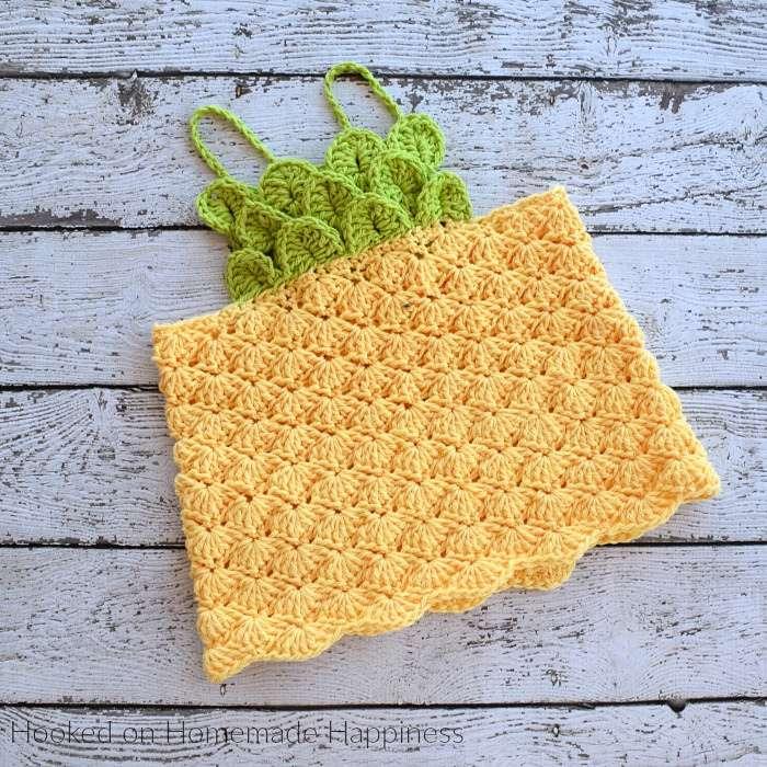 Crocheted Pineapple Top for Kids
