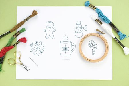 Christmas Mini Embroidery Patterns