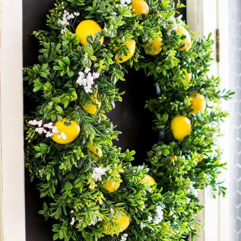 lemon summer wreath tutorial