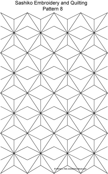 Free Sashiko Repeating Embroidery Patterns