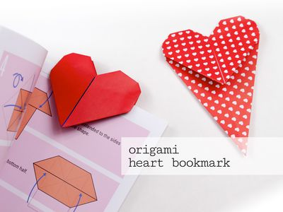 How To Make An Origami Heart Bookmark