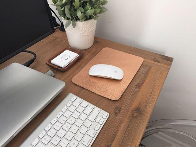 DIY Rose Gold Leather Mousepad