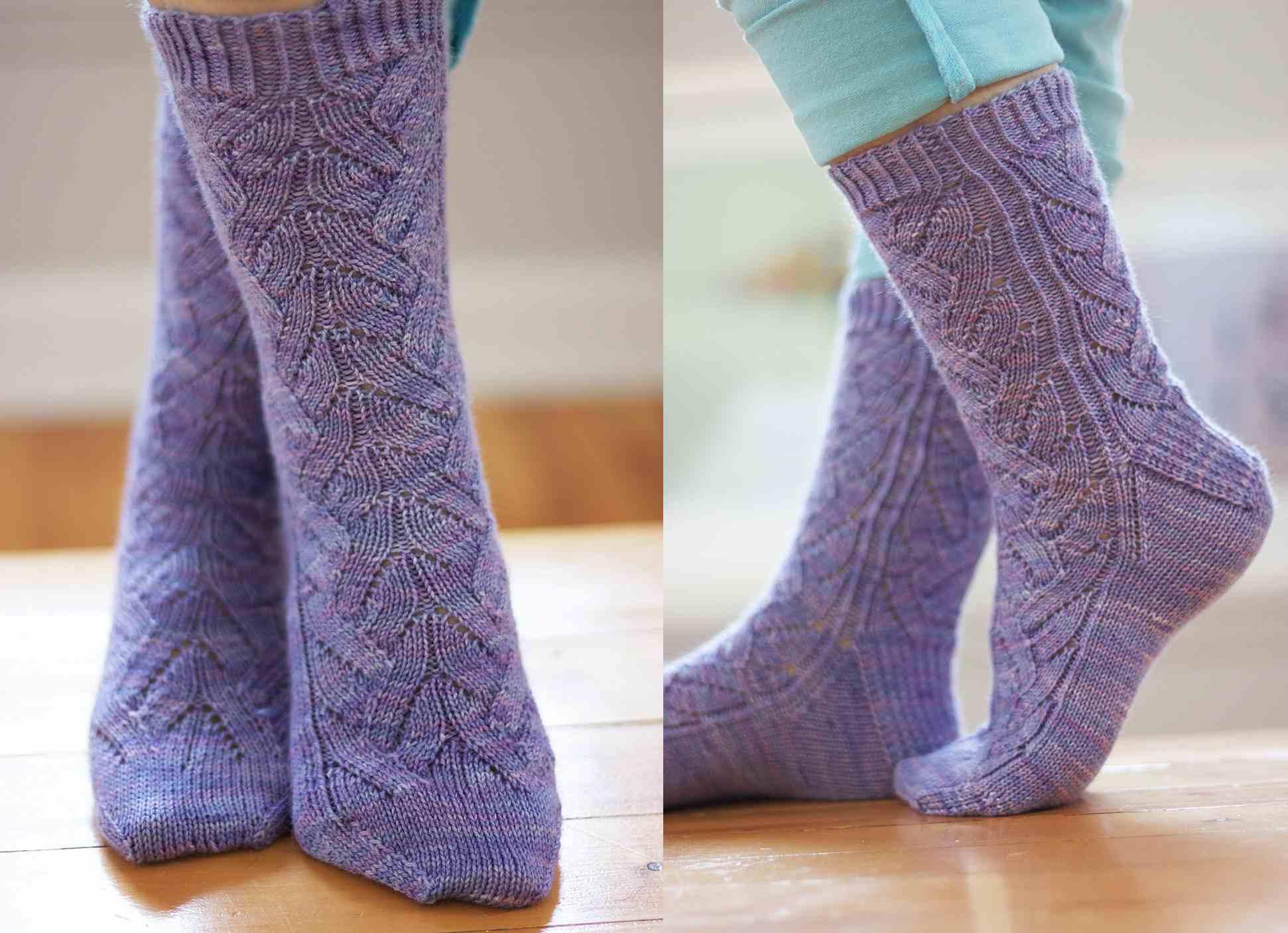 Lavanderia Lace Sock Pattern