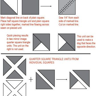 Options for piecing the quarter-square triangle unit