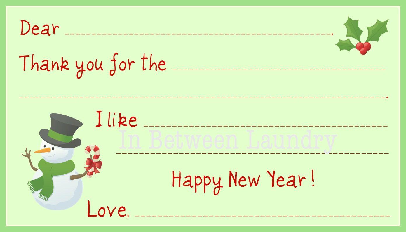 21 Free, Printable Christmas Thank You Cards Inside Christmas Thank You Card Templates Free