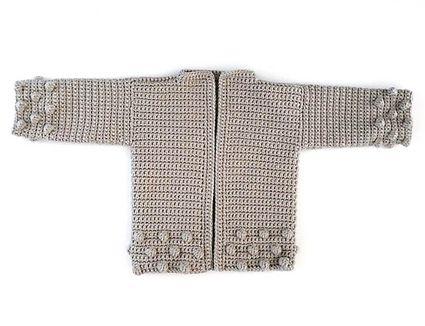 Bobble Crochet Cardigan Pattern for Kids