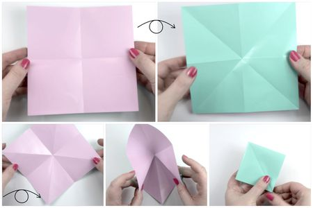 Make an easy origami lily flower create the origami square base origami flower tutorial 02 paper kawaii mightylinksfo