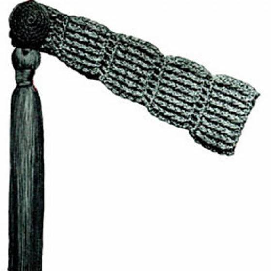 Ridged Tie-Back Free Vintage Crochet Pattern