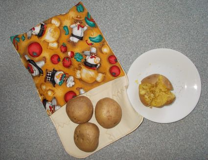 finished potato bag