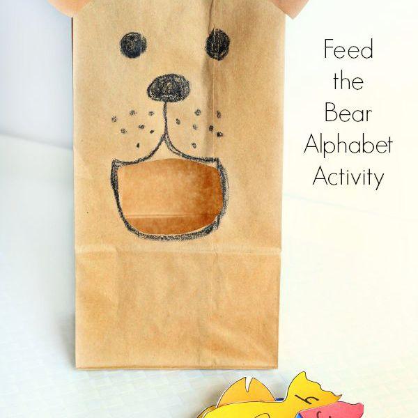 Feed the Bear Alphabet Activity