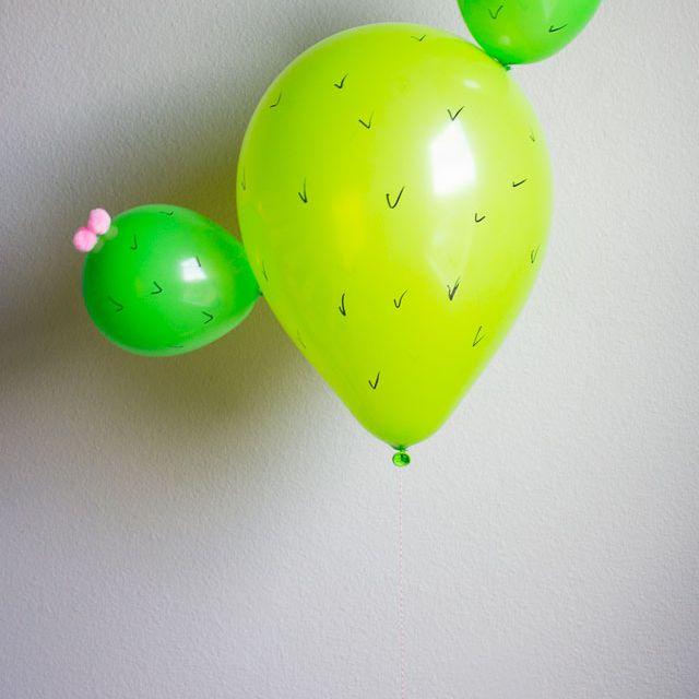 DIY Cactus Party Balloon