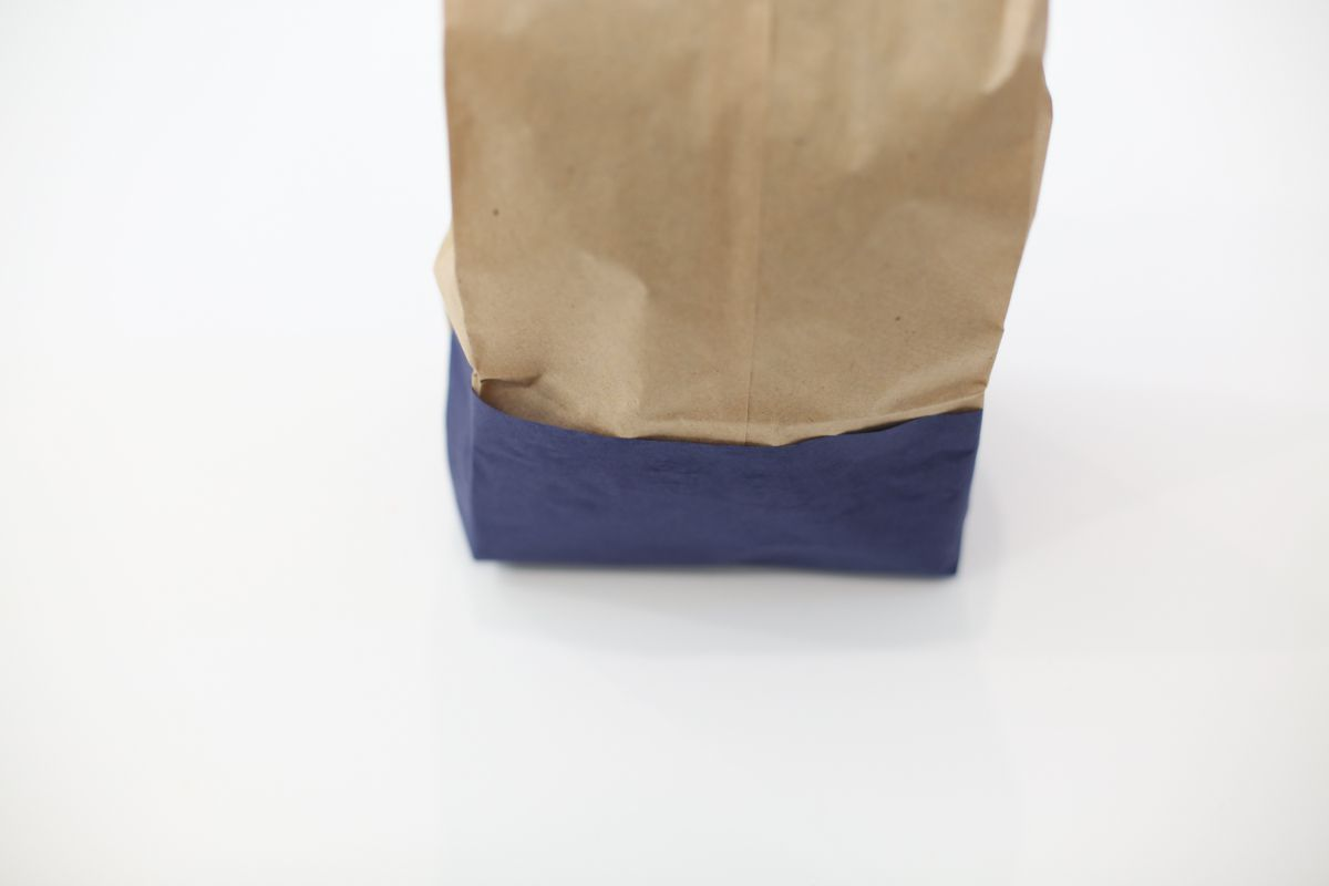 paper bag with wrapped base