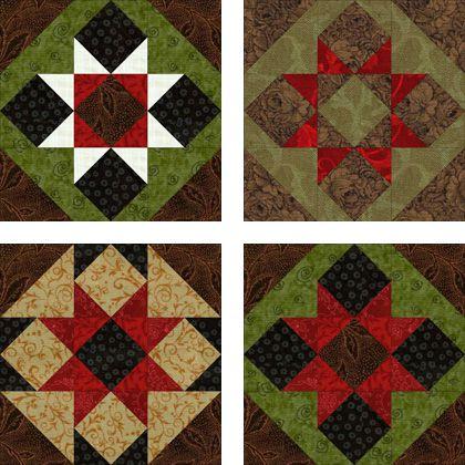 Sawtooth Quilt Blocks