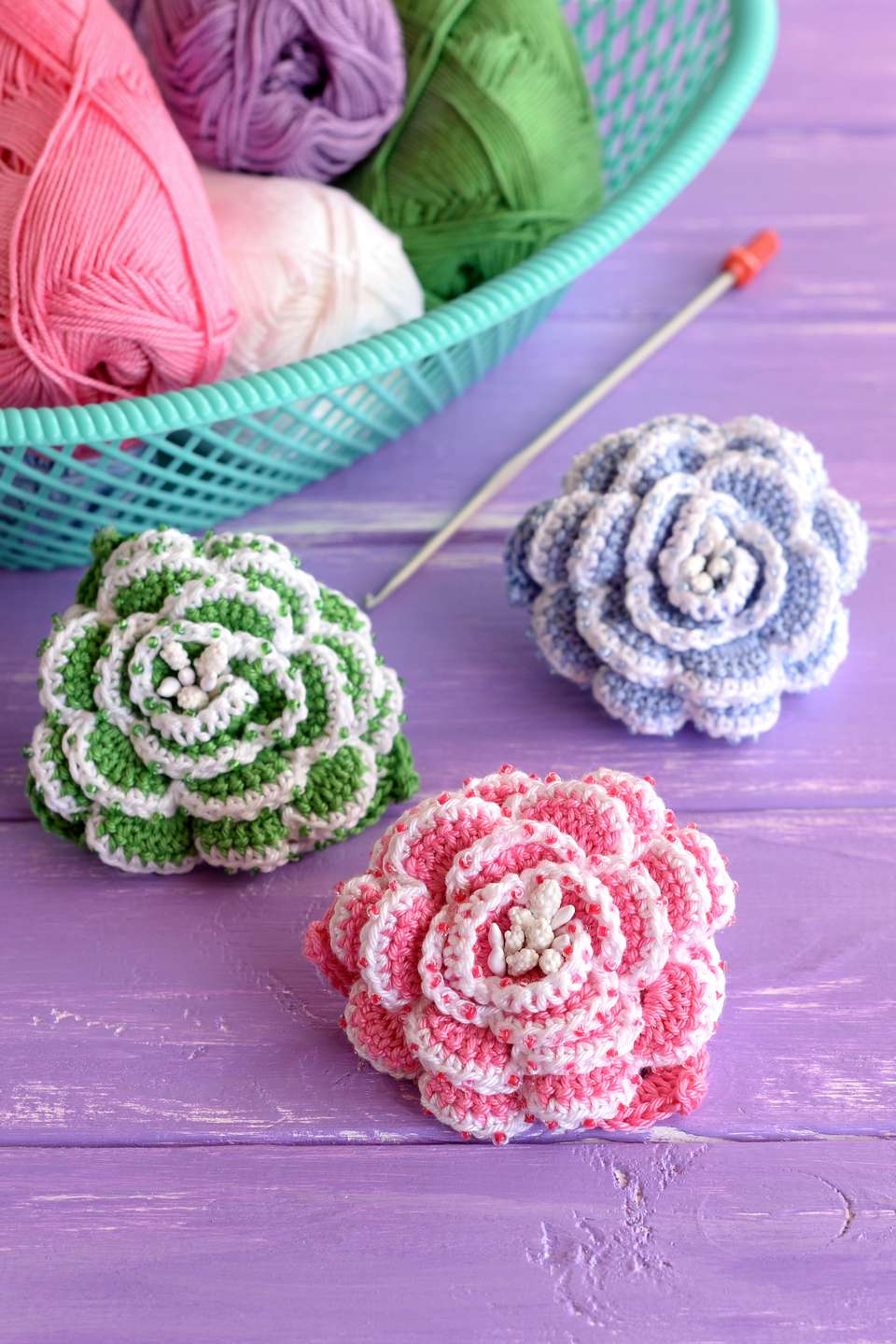 Beautiful beaded crochet project