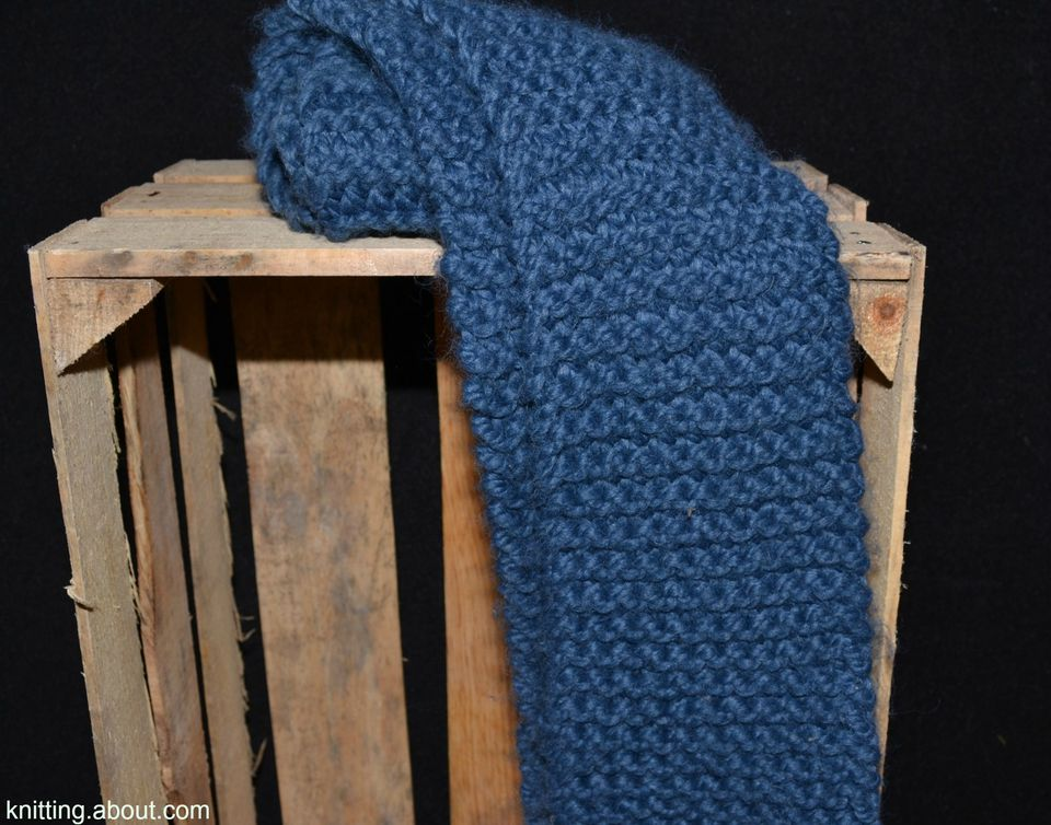 The Garter Stitch Scarf is a great first knitting project