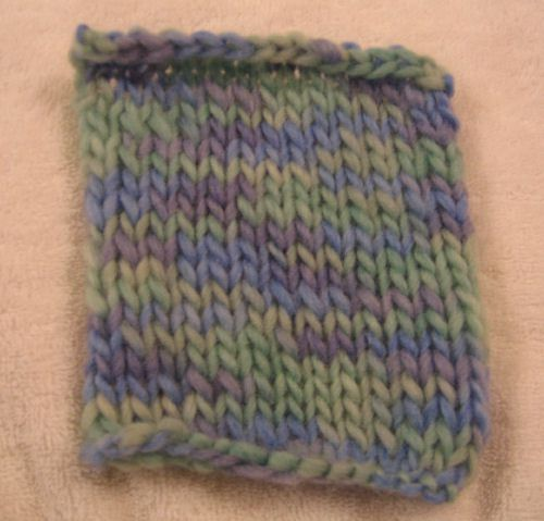 Unfelted swatch