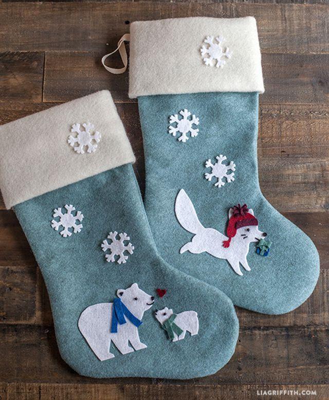 decorating stockings