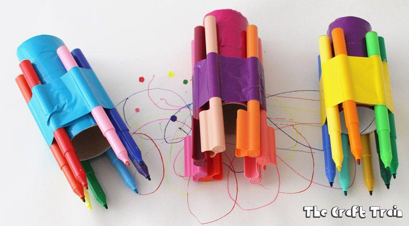 Cardboard scribbler craft