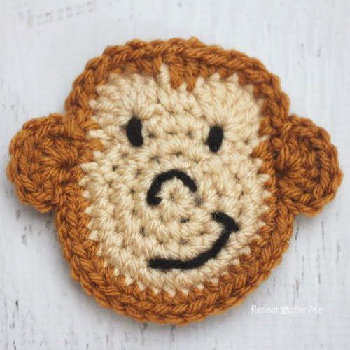 Free Crochet Monkey Amigurumi Pattern - thefriendlyredfox.com | 500x500