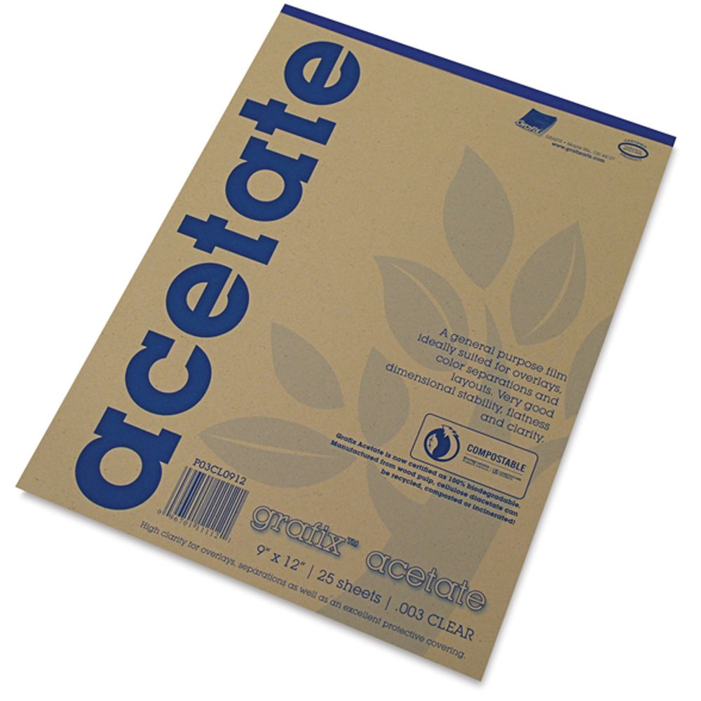 package of acetate sheets