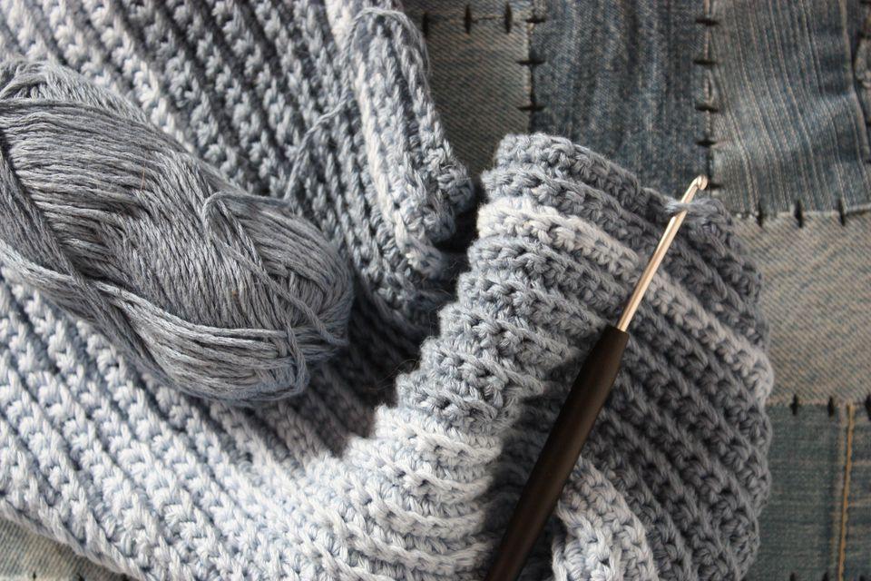 Men\'s Winter Scarf Free Crochet Pattern