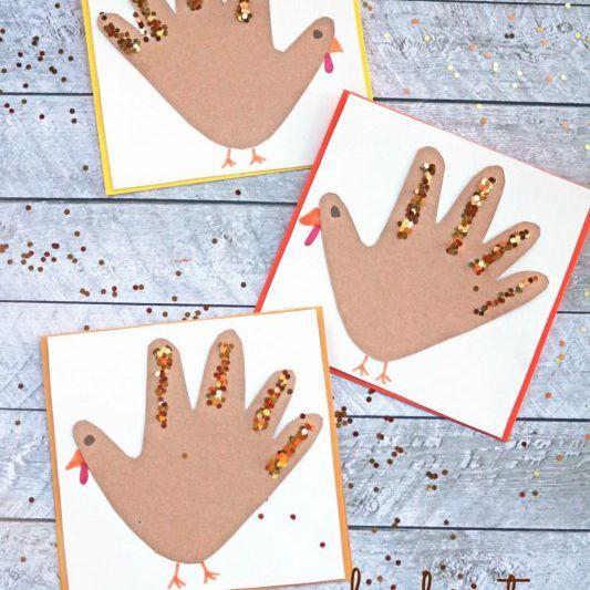 Handprint Turkey Card