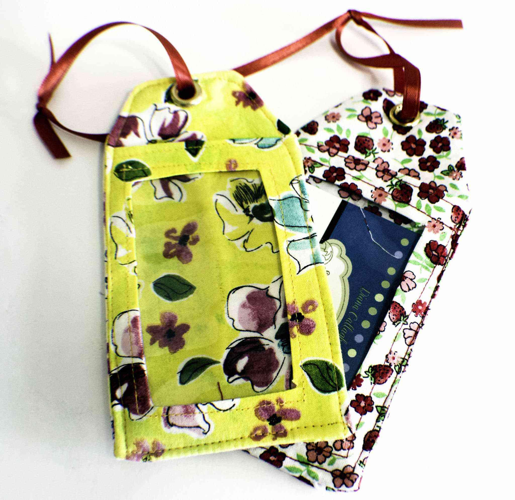 Hand-sewn luggage tags