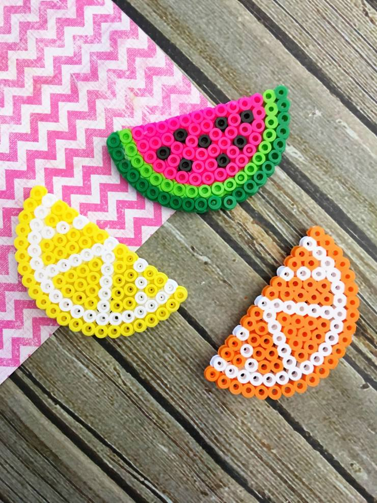 Beaded fruit craft