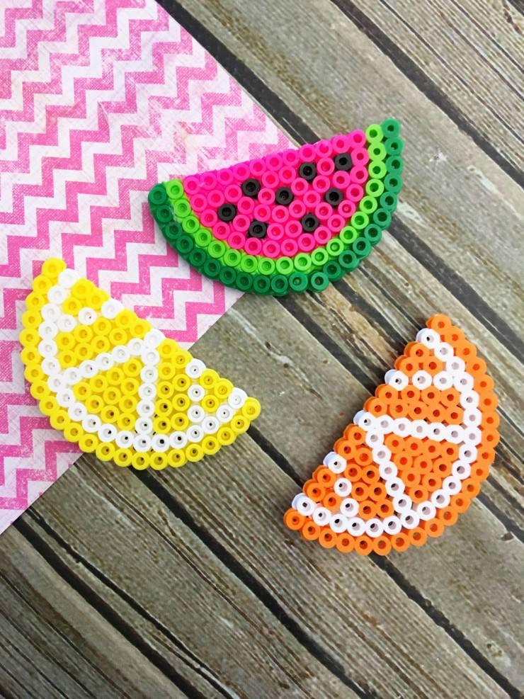 Beaded fruit craft