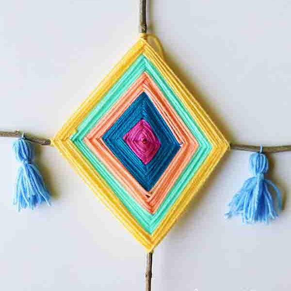 DIY God's Eye Yarn Art