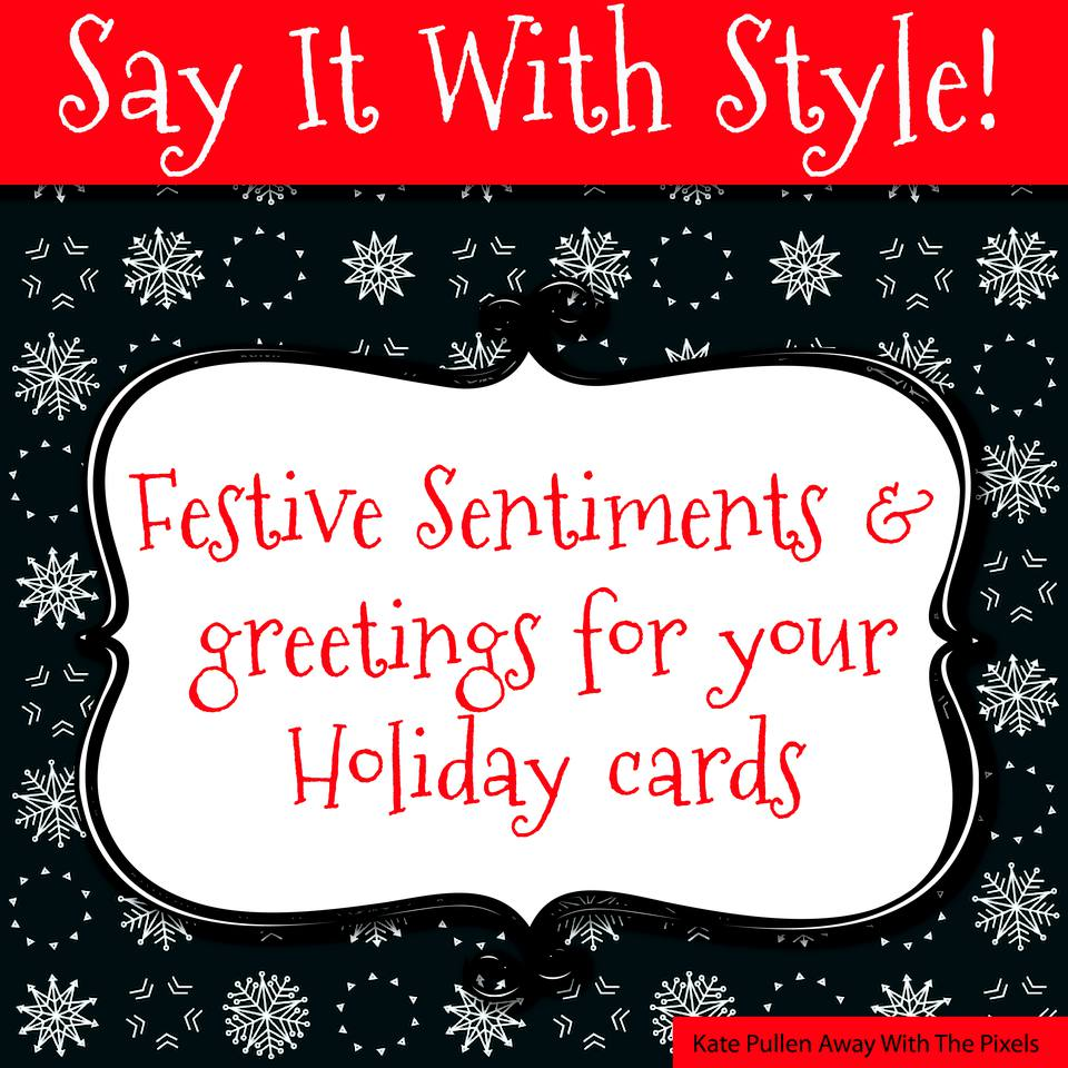 Sentiments And Greetings For Christmas Cards