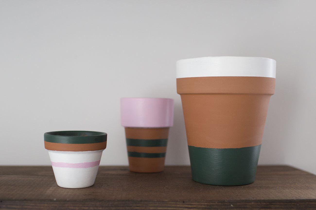 painted terracotta pots