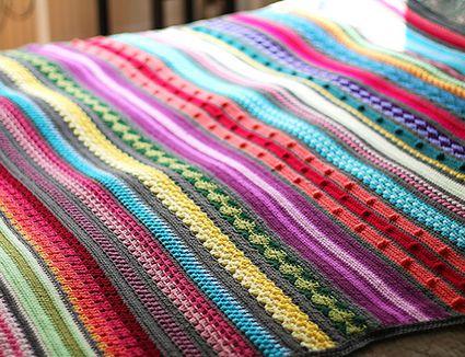 Striped Crochet Blanket Pattern