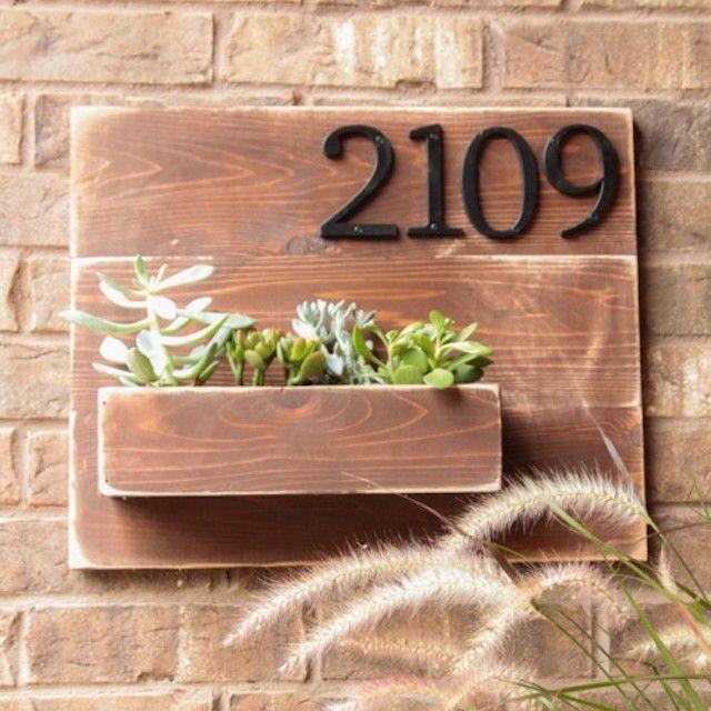 DIY Address Number Wall Planter
