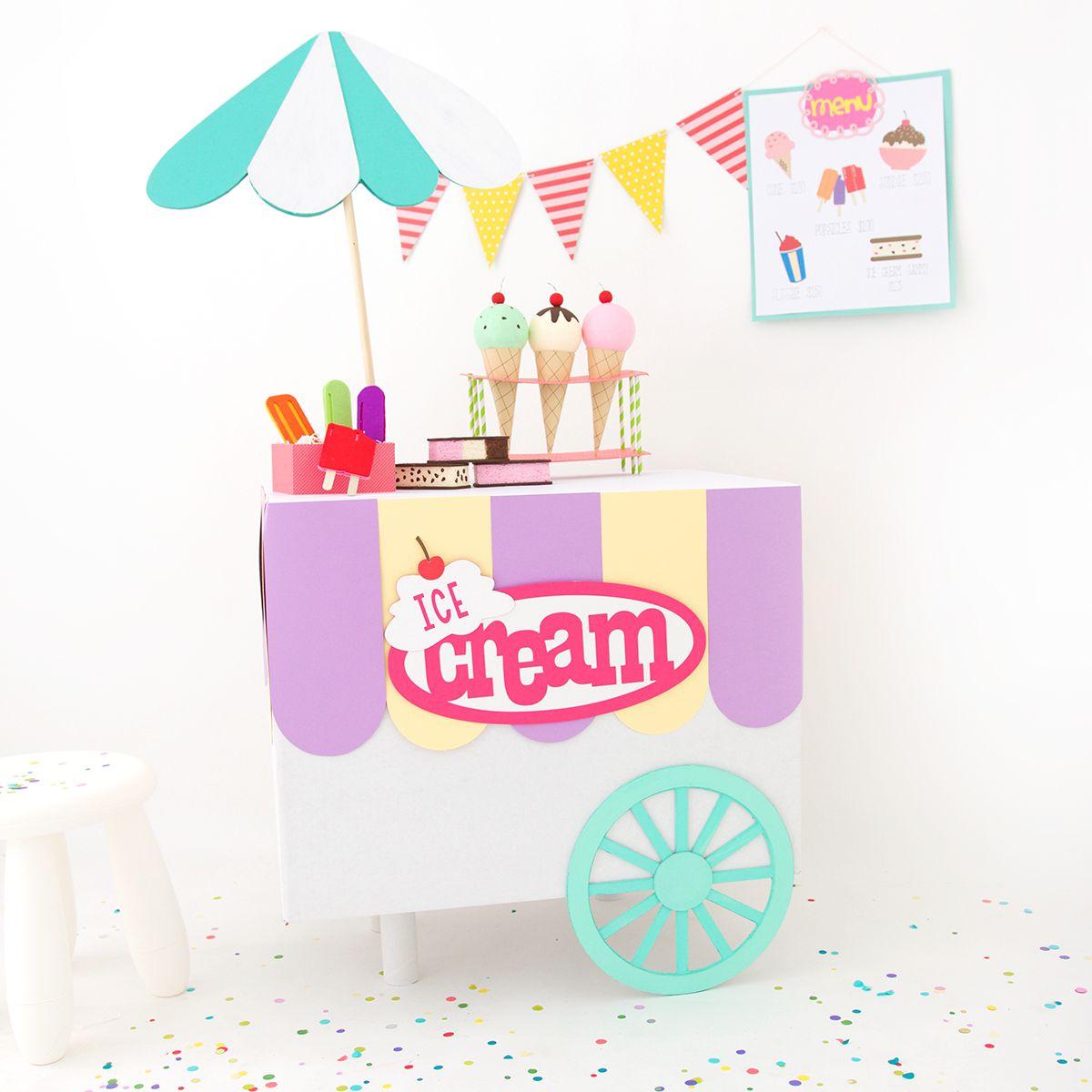 DIY Cardboard Ice Cream Cart