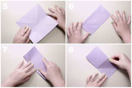 Traditional Origami Lily Flower Instructions