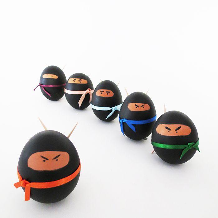 DIY Ninja Easter Eggs