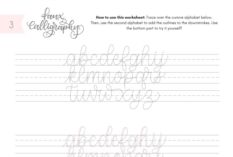 12 Free Calligraphy Practice Sheets