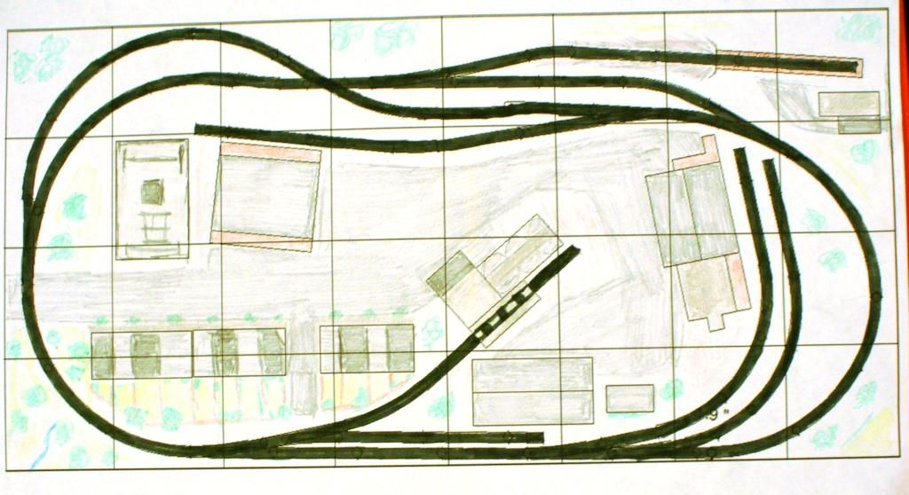 4 by 8 Foot Track Plans for Model Train Layouts