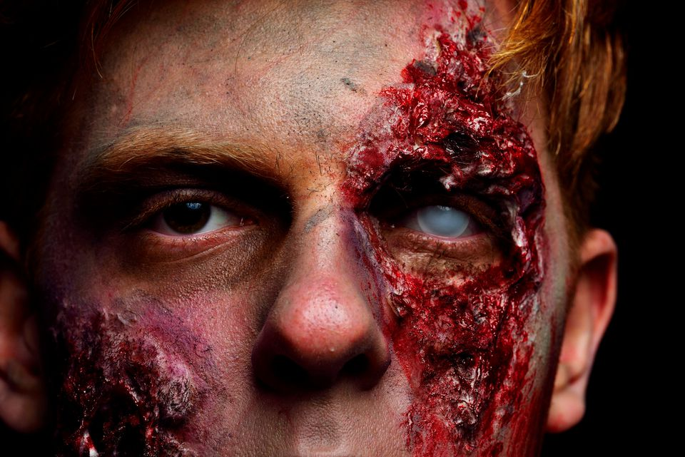Portrait Of Man With Zombie Make-Up