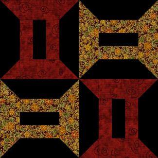 Spools Quilt Block Pattern