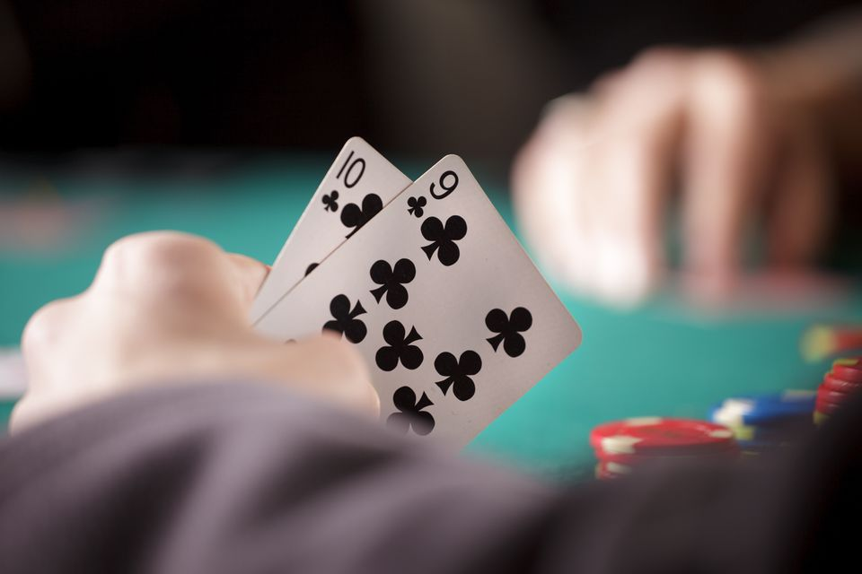 Close up of Poker Player's Hands