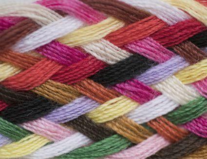 Colorful Striped Yarn