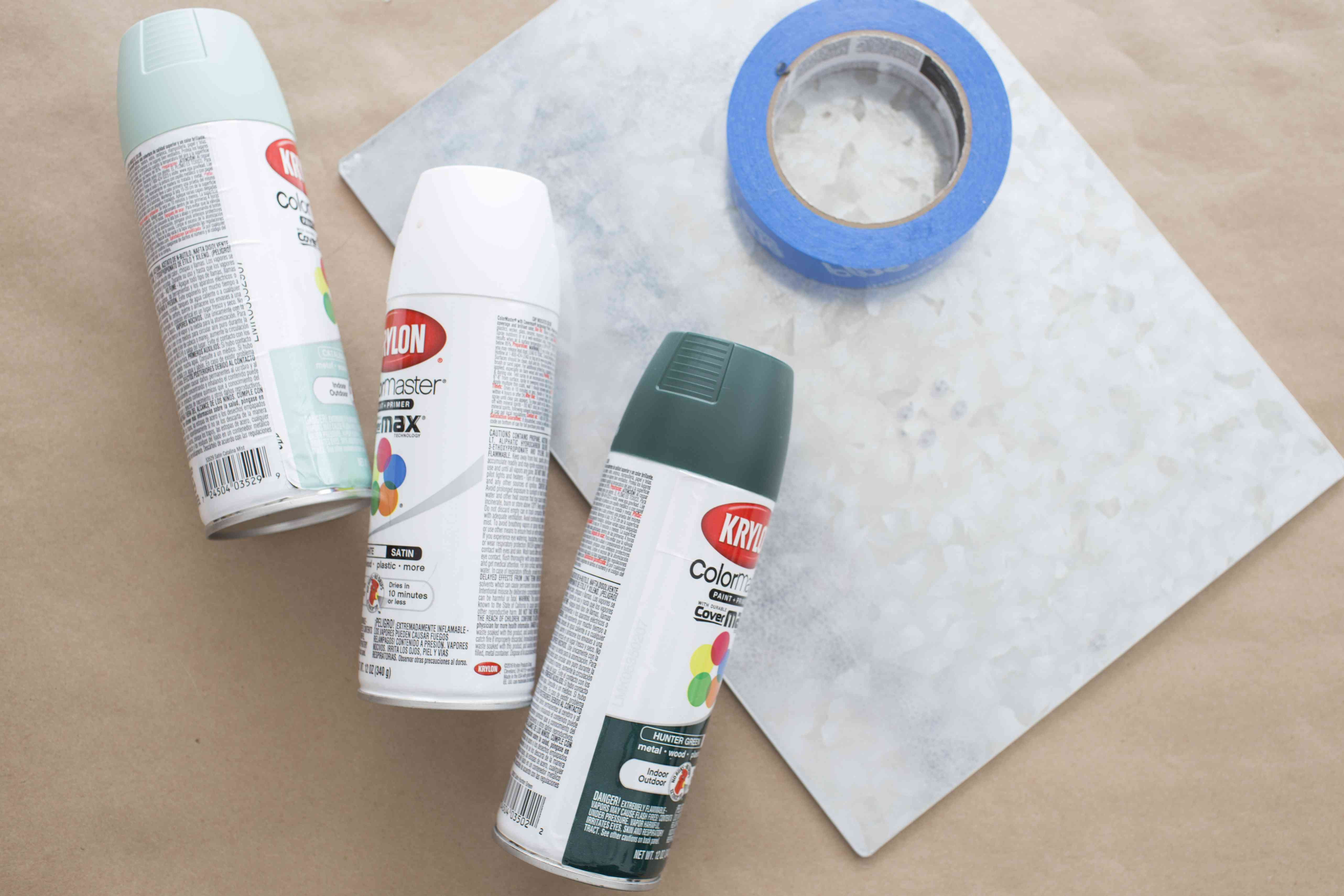 Supplies needed for making a DIY magnetic board