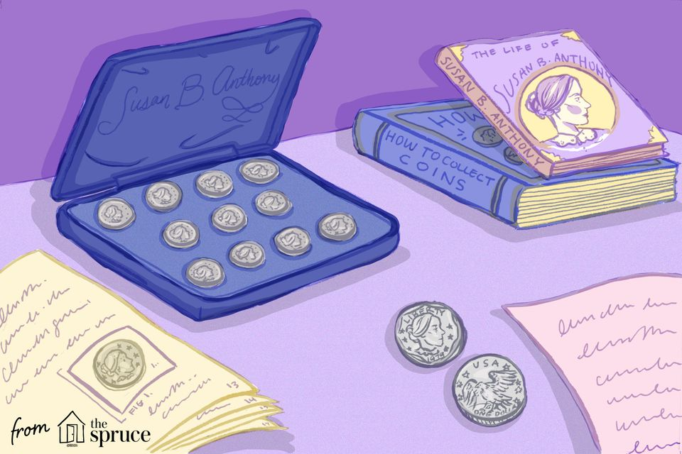 Illustration of Susan B Anthony coins