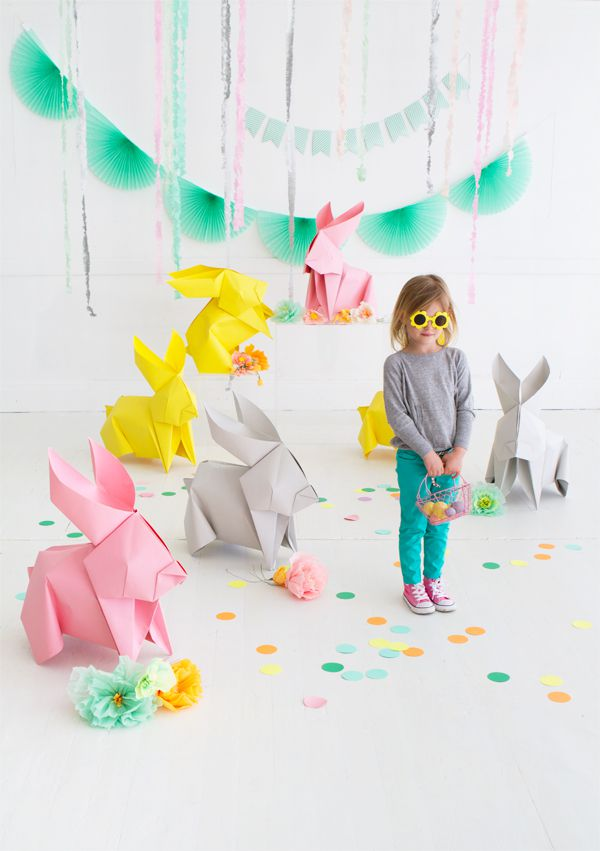 DIY Giant Origami Bunnies